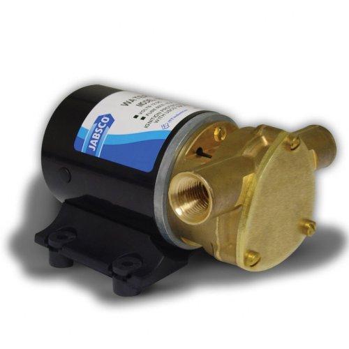 "Jabsco 18660-0121 Marine Water Puppy Bilge/Sump Flexible Impeller Pump (380-GPH, 12-Volt, 15-Amp Non-CE, 1/2"" NPT Ports)"