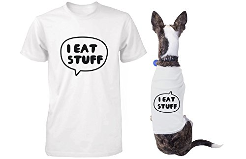 I Eat Stuff Matching Shirts for Human and Pet Funny Tees for Owner and Dog (Matching Dog And Owner compare prices)