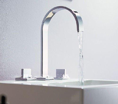 Chrome Brass Double Handle Bathroom Basin Faucet (Delta Grant Kitchen Faucet compare prices)