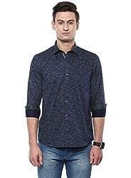 GIVO Navy Printed Casual Shirt