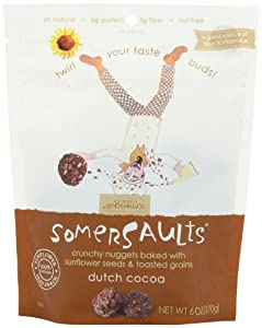 Somersaults Crunchy Nuggets, Dutch Cocoa, 6 Ounce (Pack of 6)