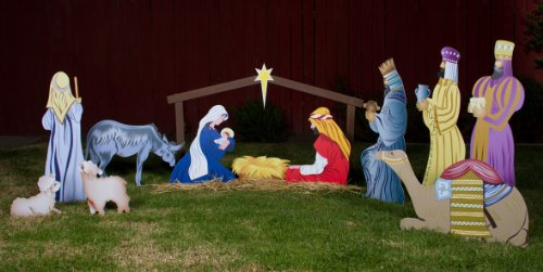 outdoor nativity scene full set 13 pieces - Outdoor Christmas Decorations Nativity Scene