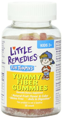 Little Remedies Little Tummys Yummy Fiber Gummies, 60 Count Bottles (Pack Of 3) front-189447