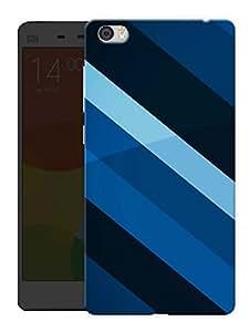 "Humor Gang Blue Lines Pattern Printed Designer Mobile Back Cover For ""Xiaomi Redmi Mi5"" (3D, Matte, Premium Quality Snap On Case)"
