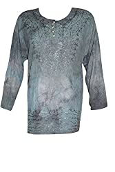 Indiatrendzs Women's Embroidered Rayon Green Top/Blouse Chest: 48