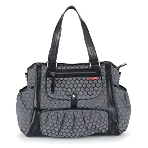 skip hop studio diaper tote bag charcoal dot baby. Black Bedroom Furniture Sets. Home Design Ideas