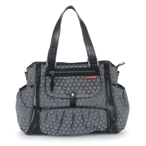 skip hop studio diaper tote bag charcoal dot diaper bags babies. Black Bedroom Furniture Sets. Home Design Ideas