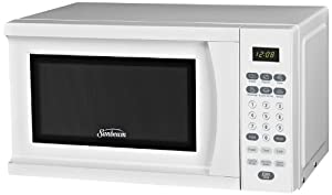 Low Price Sunbeam SGS90701W 0.7-Cubic Feet Microwave Oven, White