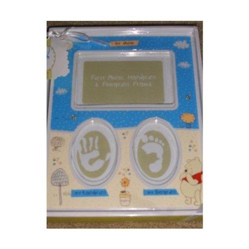 Disney Winnie The Pooh Babys First Photo, Handprint & Footprint Frame - 1
