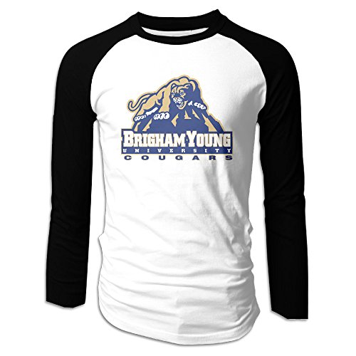 AIJFW Brigham Young University Logo Men's Crewneck Sleeve Raglan Shirts L
