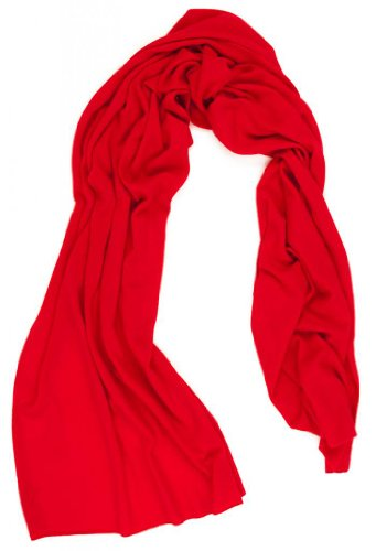 Women'S Red Cashmere Scarf - 100% Cashmere - By Citizen Cashmere
