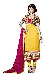 Fabdeal Women Silk Embroidered Salwar Kameez
