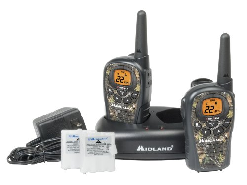 Midland LXT385VP3 24-Mile 22-Channel FRS/GMRS Two-Way Radio (Camouflage) (Pair) (Mossy Oak)
