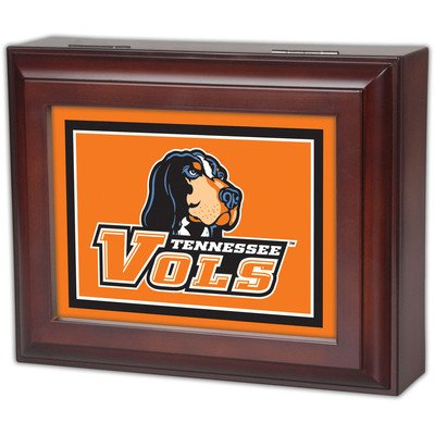 Collegiate Digital Music Jewelry Box Finish: Wood Grain, Ncaa Team: University Of Tennessee - Vols