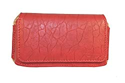 TOTTA PU Leather Hand Pouch For Oppo Joy 3- RED