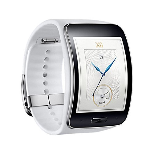 Samsung Galaxy Gear S R750W Smart Watch w/ Curved Super AMOLED Display (White) (Samsung Gear S Smartwatch compare prices)