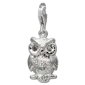 SilberDream exclusive Charms - Charm chouette en argent Charm pour charmes colliers et bracelets - Argent 925 Sterling - FC725W