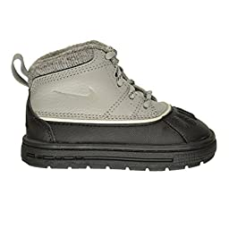 Nike Woodside (TD) Toddler Boots Matte Silver/Black-Light Bone 415080-004 (4 M US)