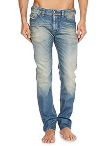 Mens Diesel THANAZ 0816L Skinny Low Waist Light Jeans - Size W38 x L32