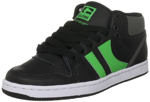 Globe Men's Destroyer Mid Leather Black/Moto Green Fashion Trainer GBDESTM 7 UK
