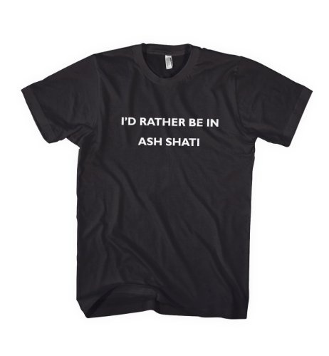 I'D Rather Be In Ash Shati Libya City Country Tee T-Shirt Large Black front-1007919