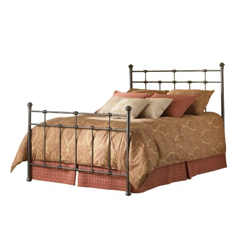 Fashion Bed Group Dexter Queen Size Bed In Hammered Brown Finish front-971982