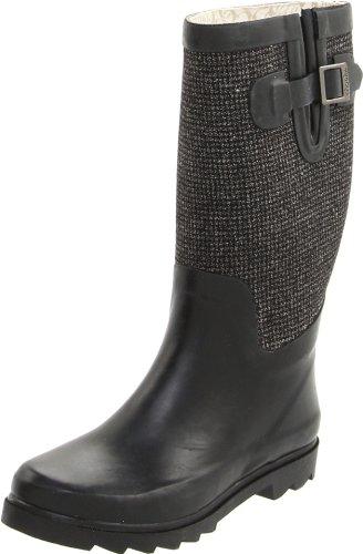Chooka Women's Teeny Tweed Boot,Black,9 M US