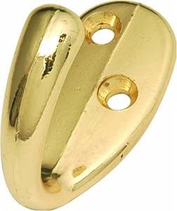 Hickory Hardware P27100-PB 1/2-Inch Utility Hook, Polished Brass