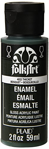 FolkArt Enamel Glass & Ceramic Paint in Assorted Colors (2 Ounce), 4022 Thicket