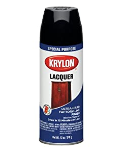 krylon 7030 lacquer spray paint gloss black 12 ounce aerosol. Black Bedroom Furniture Sets. Home Design Ideas
