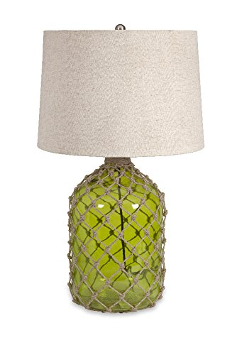Farlane Green Glass W/ Jute Table Lamp