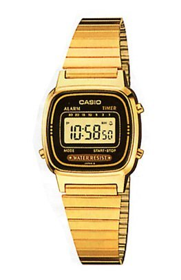 Casio Retro Gold Digital Ladies Watch - LA-670WGA-1U 