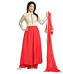 Multicolor Anarkali Dress( Georgette_PartyWear)