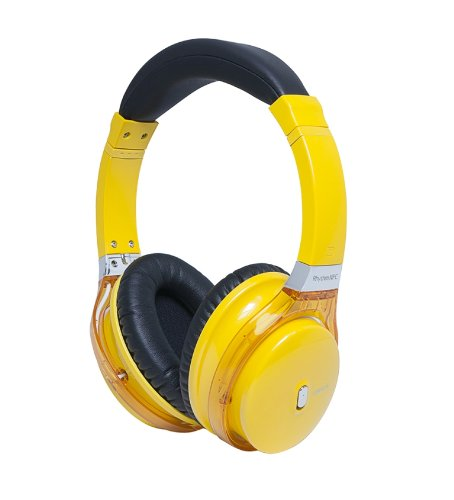 Miikey Wireless Rhythm Nfc Hi-Def Stereo Bluetooth Headphones For Iphone, Android, Samsung - Retail Packaging - Yellow
