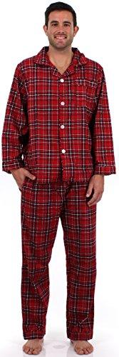 Sleepytimepjs Men'S Christmas Flannel Pajamas-Pla-Med front-552261