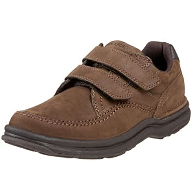 Rockport Men's World Tour Casner Hook-And-Loop Walking Shoe,Chocolate Nubuck,12 N US