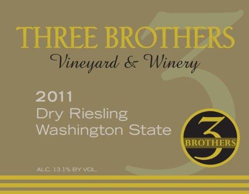 2011 Three Brothers Vineyard & Winery Rattlesnake Hills Dry Riesling 750 Ml
