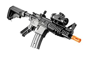 BBTac Airsoft Gun CQB 315-FPS AEG M16/M4 Style Airsoft Rifle with Red Dot Sight