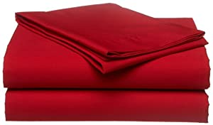 Tommy Hilfiger Sheet Set, Twin, Cardinal Red