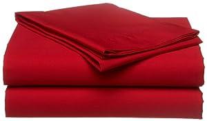 Tommy Hilfiger Sheet Set, Twin, Cardinal Red(Old Pattern)