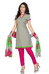 PollyCotton Unstich Dress Material (PV299-1005_Grey Colour)