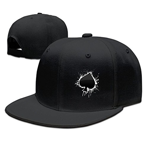 Man & Woman Poker Ace Of Spades Fitted Hat Black (Ace Hat compare prices)