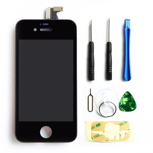 Select Replacement Digitizer And Touch Screen Lcd Assembly For Black Apple Iphone 4 (Fits Cdma Verizon/Sprint Iphone 4 Only) + Repair Tool Kit Black