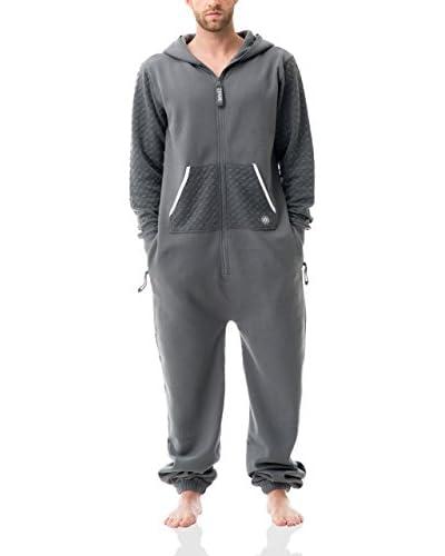 ZIPUPS Mono-Pijama Geo Puff Gris