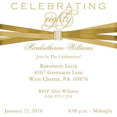 Elegant 80th Birthday Party Invitations 10 Pack Review