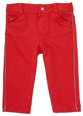 Petit Bateau - Pantalon - bébé garçon - Rouge (Pompier) - FR: 12 mois (Taille Fabricant : 80 cm)