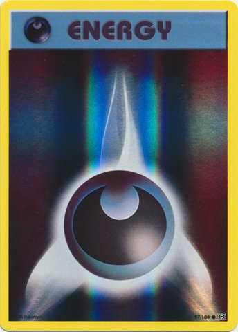 Pokemon - Darkness Energy (97/108) - XY Evolutions - Reverse Holo (Darkness Energy compare prices)