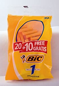 BIC Disposable Razor Sensitive Shaver Value Pack 30