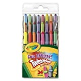 Crayola Twistables 24 twist up crayons,multi-colour,neon & metallic crayons