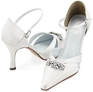 Amazon.com : CLEARANCE SALE! Ava Silk Bridal Shoes by